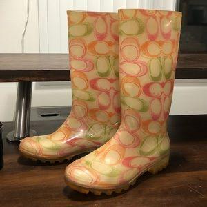 COACH rain boots - size 5 ☔️